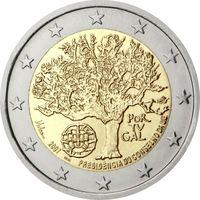 2 евро Португалия 2007 Председательство Португалии в Евросоюзе UNC из ролла