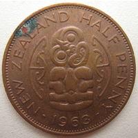 Новая Зеландия 1/2 пенни 1963 г. (u)