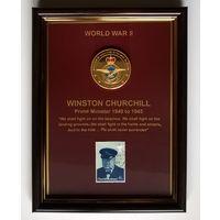 """Панно """"Уинстон Черчилль"""". 17х23см."""