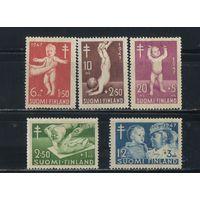 Финляндия 1947 Борьба с туберкулезом Полная #341-5*