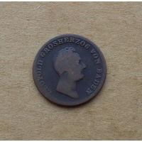Баден, 1 крейцер 1844 г., великий герцог Леопольд (1830-1852)