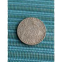 Марокко 2 1/2 дирхама 1891 г., редкая