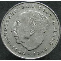 ФРГ 2 марки 1975 D Теодор Хойс, 20 лет Федеративной Республике (1949-1969)
