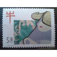 Китай Макао колония Португалии 1997 год быка Mi-4,0 евро