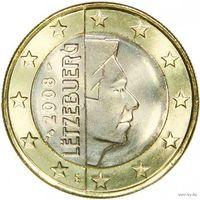 1 евро 2008 Люксембург UNC из ролла