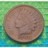 США 1 цент 1900 года, Индеец.