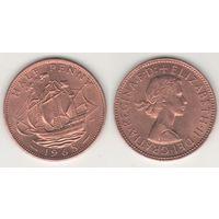 Великобритания _km896 1/2 пенни 1965 год (h02)