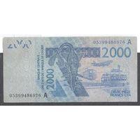 Западно-Африканские Штаты, 2000 франков 2005 г. Кот д'Ивуар