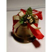 Новый год! Рождественский колокольчик, звенит. Латунь. 5 см