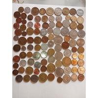 100 монет всего мира без повтора с  5 рублей