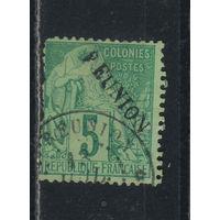 Fr Колонии Реюньон 1891 Вып Торговля Надп Стандарт #20