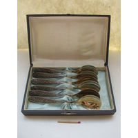 Набор мельхиоровый чайных ложек 6 шт. в коробке. МНЦ