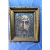 Картина Иисус в терновом венке. С РУБЛЯ! АУКЦИОН!
