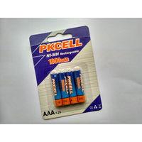 Аккумуляторные батареи -Pkcell- AAA 1000 mAh