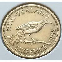 Новая Зеландия 6 пенсов, 1952