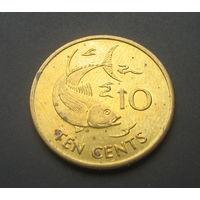 Сейшельские острова 10 центов. 2003г.