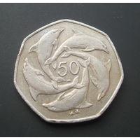 Гибралтар 50 пенсов. 2003г.