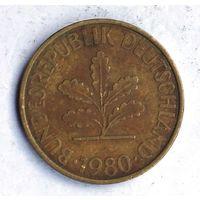 Германия (ФРГ), 10 пфеннигов 1980 (J)