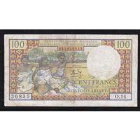 Мадагаскар 100 франков 1966 года. Редкая!