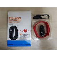 Smart Часы Intelligence Health Bracelet M3, как новые, не пользовался. Соединяется по блютузу с телефоном. Стандартный набор функций, без излишков.  - Влагозащищенный - сенсорный IPS-экран, 0.86 - уве
