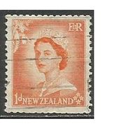 Новая Зеландия. Королева Елизавета II. 1953г. Mi#333.