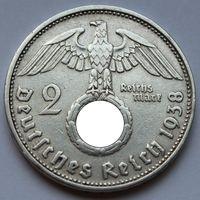 Германия, 2 марки 1938 D (серебро)