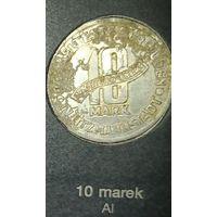 Распродажа! 10 марок 1943 г., гетто в Лодзи AL, тип а