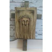 Крест настенный, дерево. INRI