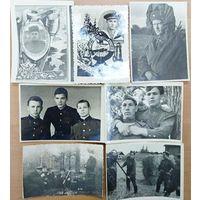 Фото военных 7 шт, 50-60 годы. БЕСПЛАТНАЯ ДОСТАВКА