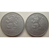 Чехословакия 10 геллеров 1976, 1983 гг. Цена за 1 шт.
