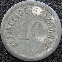 YS: Германия, Darmstadt, 10 пфеннигов 1917, нотгельд города Дармштадт, цинк, Funck# 88.1 A