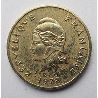 Новые Гебриды 2 франка 1978 - пореже!