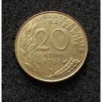Франция, 20 сантим 1988