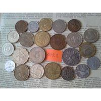 С рубля! 23 монеты! Все разные! (лот 15.Э) Впереди новые монетные аукционы!