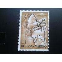 Сан-Марино 1962 альпинист