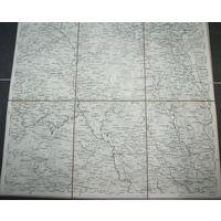 Оригинальная карта территорий: Бобруйск-Пуховичи-Березино-Могилев-Жл обин 1873г.