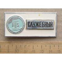 Значок Чемпионат Европы F.I.S ( Международная федерация лыжного спорта ) Ленинград 1973 год СЛУЖЕБНЫЙ