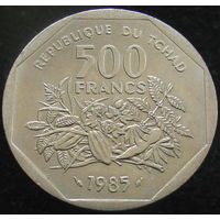 1к Чад 500 франков 1985 (2-308) распродажа коллеции