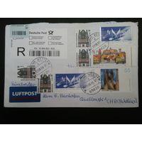 Балонная почта(zeppelinpost) из Германии в Швейцарию 2005г.