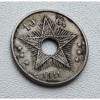 Бельгийское Конго 10 сантимов, 1911 1-8-37