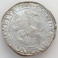Нидерланды, талер/ левендальдер/ левок 1647 года, серебро/ вес этой монеты 26,9 г