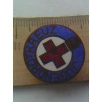 Антикварный редкий значок,Красный крест' латунь