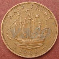 5966:  1/2 пенни 1963 Британия