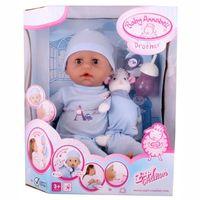 Кукла   BabyANNABELL(46см)(мальчик) с мимикой ,Германия Zapf Creation,в комплекте с музыкальной овечкой(кукла (оригинал, в оригинальной упаковке)+подарок