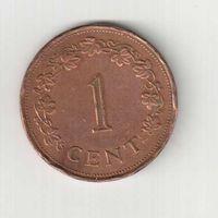 1 цент 1977 года Мальты