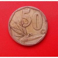 08-16 ЮАР, 50 центов 2006 г. Единственное предложение монеты данного года на АУ