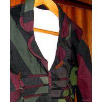 Пиджак стильный 42 Интересный крой. Хлопок 100%. На качественной подкладке. Практичный и оригинальный цвет. Турция