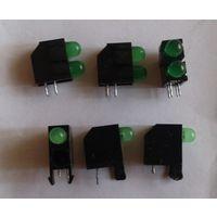 Зеленые светодиоды 9 шт (проверены)