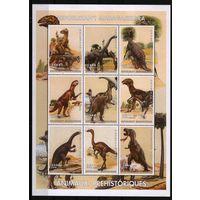 1999 Мадагаскар фауна Динозавры лист**