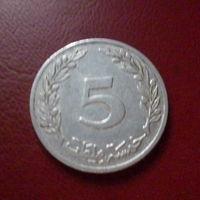 Тунис 5 мильемов 1983г.